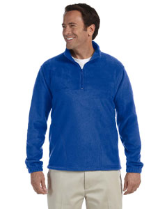 True Royal 8 oz. Quarter-Zip Fleece Pullover