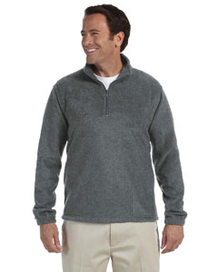 Charcoal Adult 8 oz. Quarter-Zip Fleece Pullover