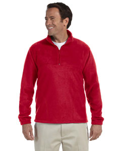 Red Adult 8 oz. Quarter-Zip Fleece Pullover