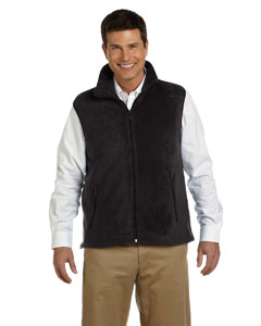 Black Adult 8 oz. Fleece Vest
