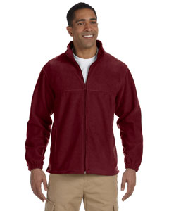Wine Men's Full-Zip Fleece