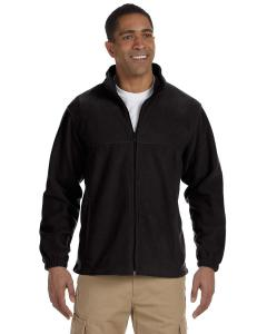 Black Men's TALL 8 oz. Full-Zip Fleece
