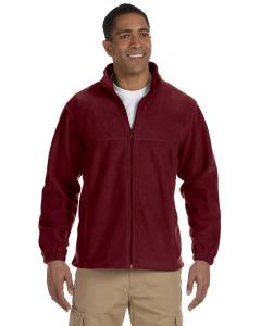 Wine Men's TALL 8 oz. Full-Zip Fleece