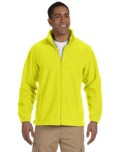 Safety Yellow Men's TALL 8 oz. Full-Zip Fleece