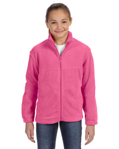 Charity Pink Youth 8 oz. Full-Zip Fleece