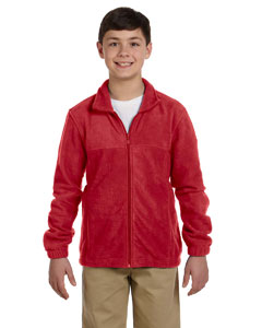 Red Youth 8 oz. Full-Zip Fleece