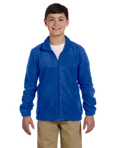 True Royal Youth 8 oz. Full-Zip Fleece
