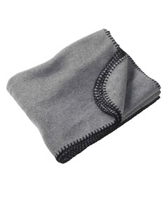 Charcoal 12.7 oz. Fleece Blanket