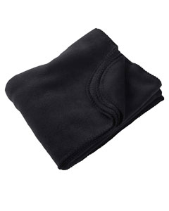Black 12.7 oz. Fleece Blanket