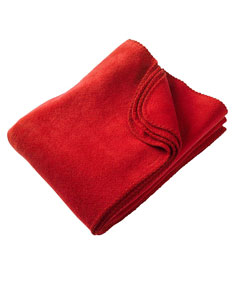 Red 12.7 oz. Fleece Blanket
