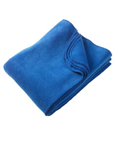 True Royal 12.7 oz. Fleece Blanket