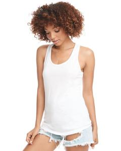 White Ladies Ideal Racerback Tank