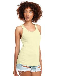 Banana Cream Ladies Ideal Racerback Tank