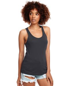 Dark Gray Ladies Ideal Racerback Tank