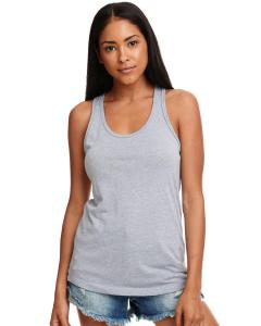 Heather Gray Ladies Ideal Racerback Tank