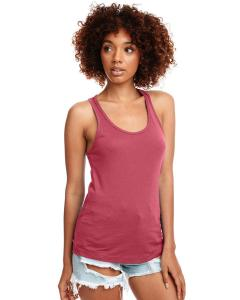 Hot Pink Ladies Ideal Racerback Tank