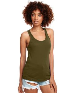 Military Green Ladies Ideal Racerback Tank