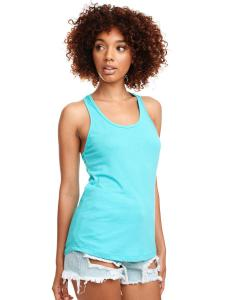 Tahiti Blue Ladies Ideal Racerback Tank