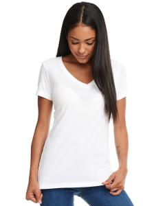 White Ladies Ideal V-Neck Tee