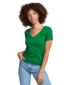Kelly Green Ladies Ideal V-Neck Tee