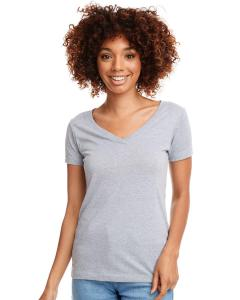 Heather Gray Ladies Ideal V-Neck Tee