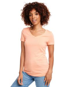 Light Orange Ladies Ideal V-Neck Tee