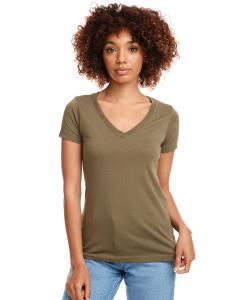 Military Green Ladies Ideal V-Neck Tee