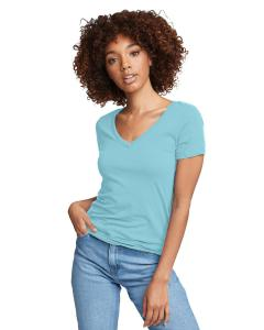 Tahiti Blue Ladies Ideal V-Neck Tee