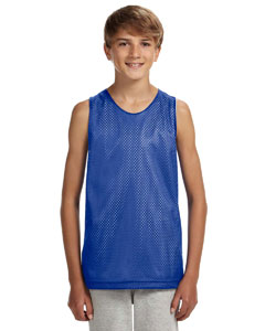 Royal/ White Youth Reversible Mesh Tank