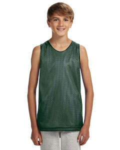 Hunter/ White Youth Reversible Mesh Tank