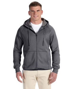 Charcoal Heather Adult 7.2 oz. Nano Full-Zip Hood
