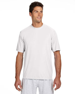 White Men's Short-Sleeve Cooling Performance Crew