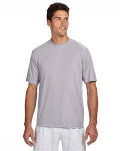 Silver Men's Short-Sleeve Cooling Performance Crew