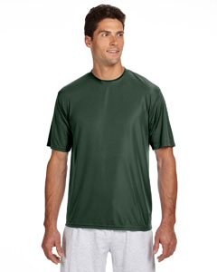 Forest Green Men's Short-Sleeve Cooling Performance Crew