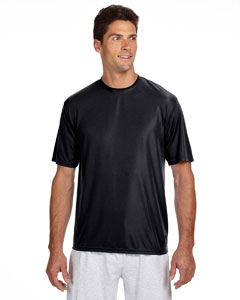 Black Men's Short-Sleeve Cooling Performance Crew