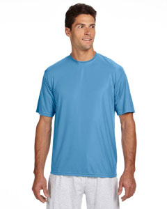 Light Blue Men's Short-Sleeve Cooling Performance Crew