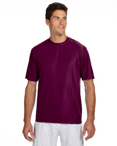 Maroon Men's Short-Sleeve Cooling Performance Crew