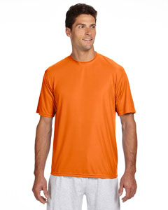 Safety Orange Men's Short-Sleeve Cooling Performance Crew