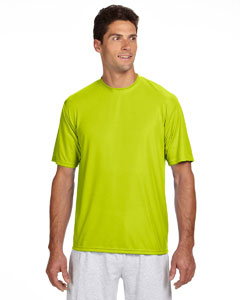 Safety Yellow Men's Short-Sleeve Cooling Performance Crew