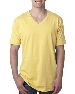 Banana Cream Men's Premium Fitted Short-Sleeve V-Neck Tee