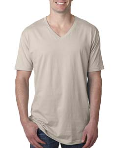 Sand Men's Premium Fitted Short-Sleeve V-Neck Tee