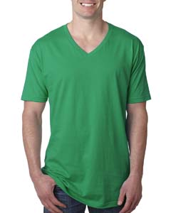 Kelly Green Men's Premium Fitted Short-Sleeve V-Neck Tee