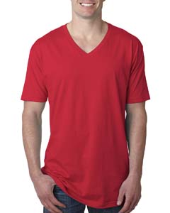 Red Men's Premium Fitted Short-Sleeve V-Neck Tee