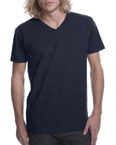 Midnight Navy Men's Premium Fitted Short-Sleeve V-Neck Tee