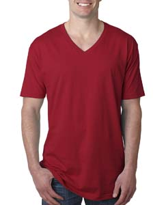 Cardinal Men's Premium Fitted Short-Sleeve V-Neck Tee
