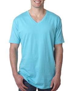 Tahiti Blue Men's Premium Fitted Short-Sleeve V-Neck Tee