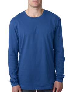 Cool Blue Men's Premium Fitted Long-Sleeve Crew Tee