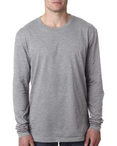 Heather Gray Men's Premium Fitted Long-Sleeve Crew Tee