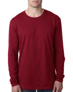 Cardinal Men's Premium Fitted Long-Sleeve Crew Tee
