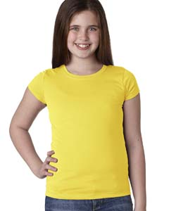 Vibrant Yellow Youth Princess Tee